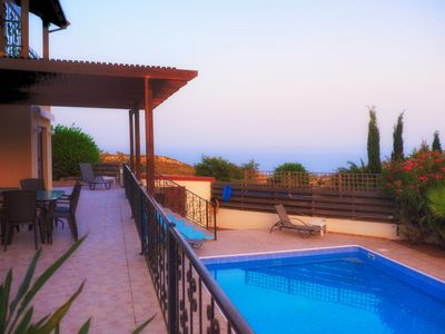 Photo for Large villa with private pool, sea view, 3 en-suite bedrooms, Pissouri, Cyprus