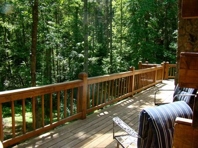 Photo for MONARCH LODGE - Authentic 3000' Log Home on the Etowah River