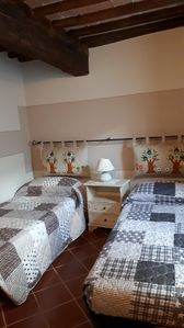 Photo for Spacious apartment in a small medieval village in the Valle d'Orcia (SI)
