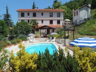 Photo for Apartment sleeps 10 with gardens and pool. Prades / Perpignan, Pyrenees Orient