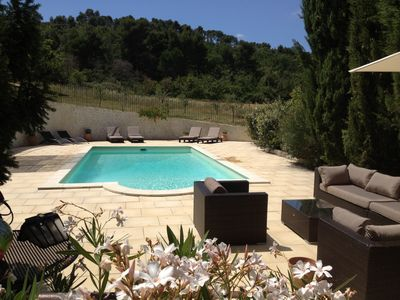 Photo for 18th century Provencal farmhouse with swimming pool less than 20 minutes from Aix en Provence