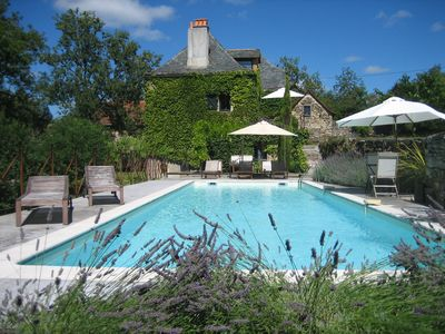 Photo for Beautiful 18th century stone farmhouse with pool at the Mas d'Arjac, Aveyron