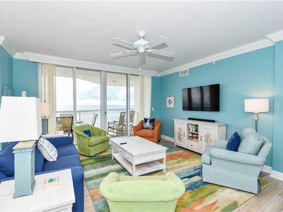 Photo for A colorful, tropical beachfront getaway w/private balcony!