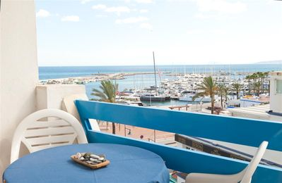 Photo for Sea and port views with WIFI and Air con, Close to beach, restaurants and Estepona port