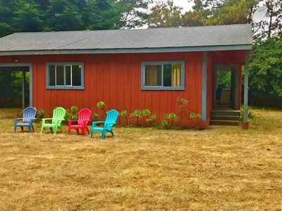 Photo for Mendocino Tranquility Meadows: Azul Cottage on 50 acre Nature Reserve with Ponds