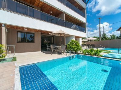 Photo for CPG04 Flat with private pool in Porto de Galinhas, near the natural pools.