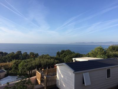 Photo for New mobile home Saint Raphael 180 degrees sea view