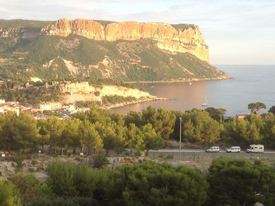 Photo for Splendid view of the sea and Cap Canaille, swimming pool, tennis, beautiful residence.