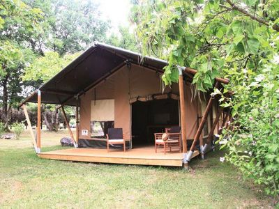 Photo for Camping Fontaine Du Roc *** - Tent Safari 3 rooms 5 people