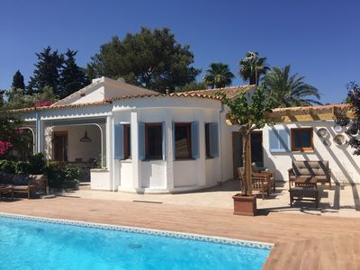 Photo for Luxury Villa close to the beach with heated Pool and lovely mountain views