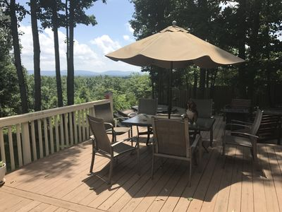 Photo for Over 3,000 sqft, 4 bedroom, mountain views from hottub on 4 acres