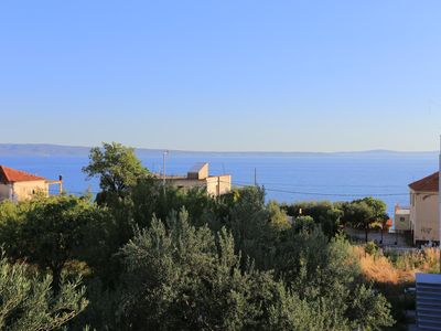 Photo for One bedroom apartment with balcony and sea view Podstrana, Split (A-2769-c)