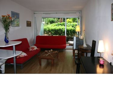 Photo for Beautiful studio 29 m2 terrace 9 m2 with swimming pool, 5 mins sea and shops