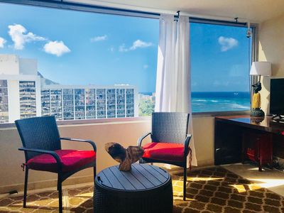Foster Twr NEW REMODEL 1 BR/1BA Lanai 25th Floor Panoramic View Ocean & Mountain