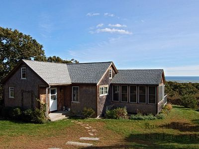 Photo for Charming Chilmark Cottage With Big Atlantic View;  Private Pond And Beach