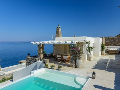 Photo for VILLA BEAUTIFIS | in Kea, 4BDR/7prs, sea water pool, lovely seaview