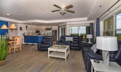 Photo for Stunning Modern Beachy 3/2 Corner Condo W pond views. OW11-507