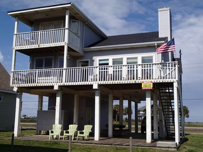 Beautifully furnished, lots of covered deck area.