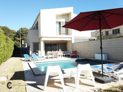 Photo for VILLA CARPEDIEM- Beautiful house with garden and private pool in Puig de Ros.3 rooms, BBQ -79469 - Free Wifi