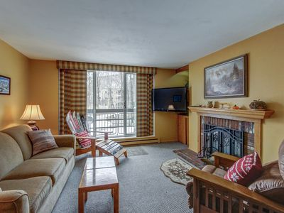 Photo for Cozy condo near the slopes w/ a shared pool, modern comforts, and more!