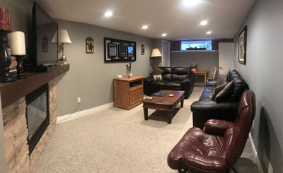 Relax in your own lounge.Watch T.V. Cozy up to gas fire. Home away from home!