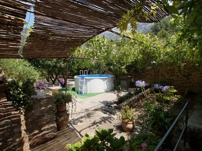 Photo for Beautiful mallorcan house, A/C, internet Wi-Fi , sunny garden and splash pool