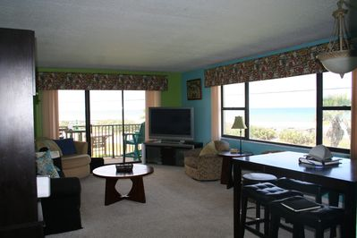 Large condo with amazing ocean views out every window.