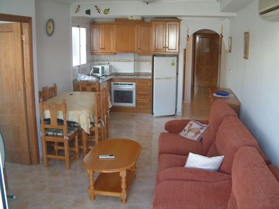 Photo for Spacious air conditioned two bedroom apartment close to Parc De Naciones,  pool