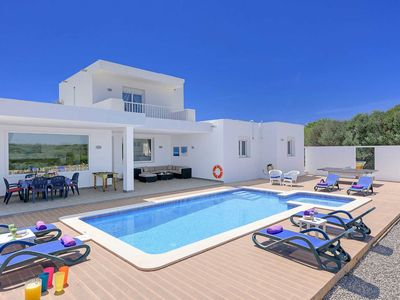 Photo for Villa Eclipse -modern villa with private pool, games, Wi-Fi & A/C close to beach