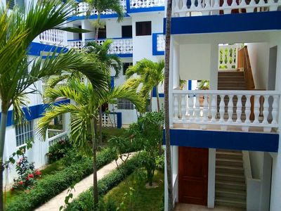 Photo for Studio in central Sosua, pool/Wifi/cable TV, near shops, beaches and bars