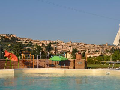 Photo for Spello Rosmarino apartment in Holiday House with park and swimming pool