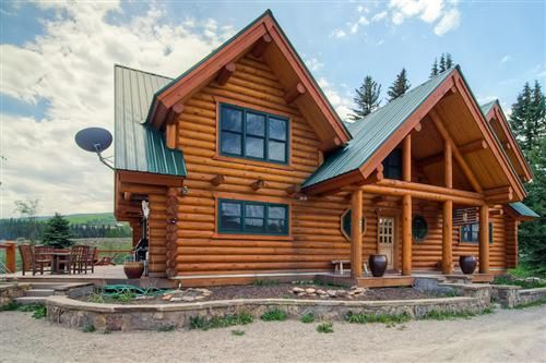 Exterior. Beautiful 4 Bedroom Log Cabin Home On The E      VRBO