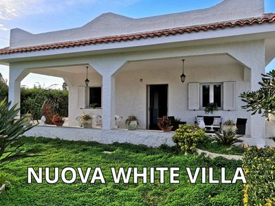 Photo for NEW WHITE VILLA with heated jacuzzi tub (sun sea and relaxation)