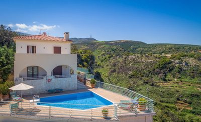 Photo for 6 guests villa,Great sea view,Private pool, Near tavern,Venetian village