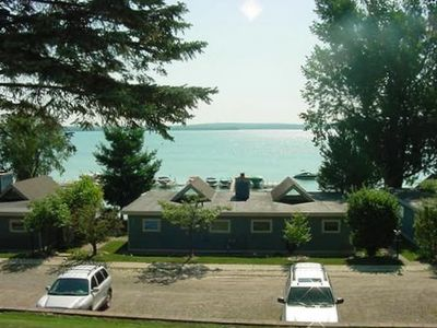Awsome view of Burt Lake awaits you from this newly updated condo