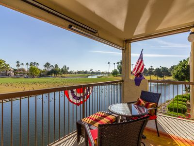 Photo for Peaceful Lakefront Condo with Golf Course Views