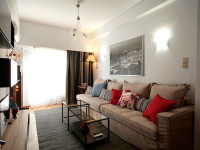 Photo for Comfy & Tasteful Central Apt • 1' to Metro Station