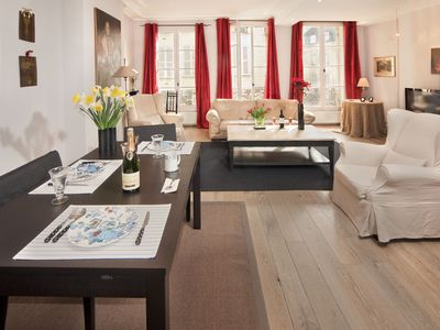 Photo for Beautiful LARGE Luxury One Bedroom In The Heart Of St Germain!