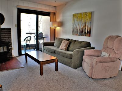 Photo for Cozy Condo just a Short Walk to Slopes - Wood Stove, WiFi, Grill, Full Kitchen