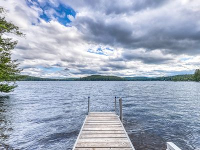 Photo for NEW LISTING! Lakefront cabin with beautiful views, lake and beach access
