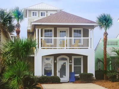 Front of the Three Story Home Facing the Beach