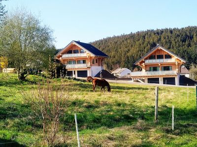 Photo for Canadian log cabins with lake and national park view / new building !!!