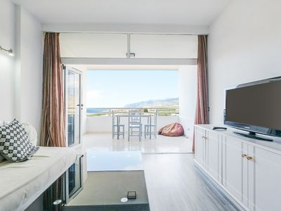 """Photo for Charming Apartment """"Mar Azul Del Sur"""" with Sea View, Wi-Fi, Terrace & Shared Pool; Parking Available"""