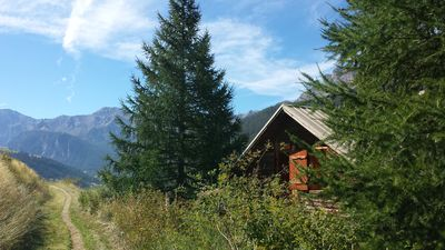 Photo for Chalet in the middle of the nature with a panoramic view on the valley.