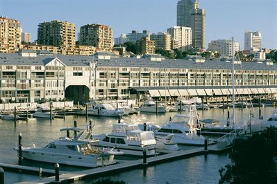 The Finger Wharf is 2 minutes away and you will find some great restaurants here