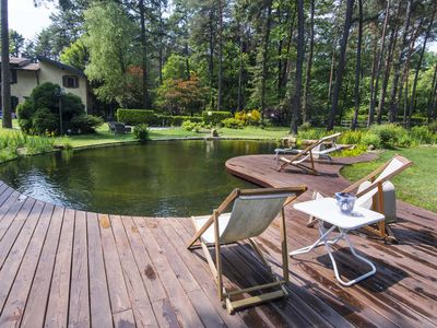 Photo for House in the woods. Paradise in the Ticino Park. Swimming pool / Biolago with park