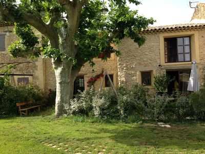 Photo for Beautiful outbuilding in Provencal Mas with pool, near Pont Royal Golf