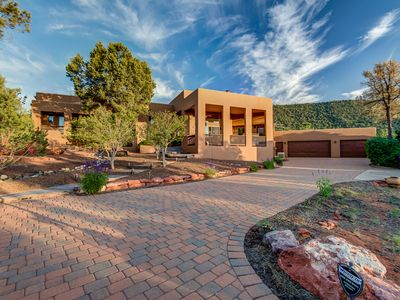 Photo for Custom Home, Sleeps 17, Surrounded by Red Rocks, Private Hot Tub