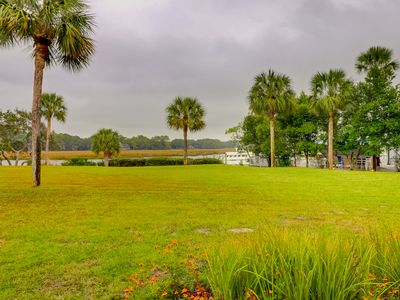 Photo for NEW LISTING!! Wonderful Water Views Updated Luxury Efficiency Near the Sea Pines Beach and Salty Dog