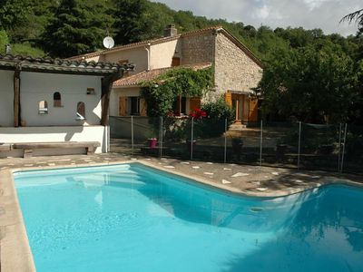 Photo for Stone House with private pool in the Languedoc National Park near Octon